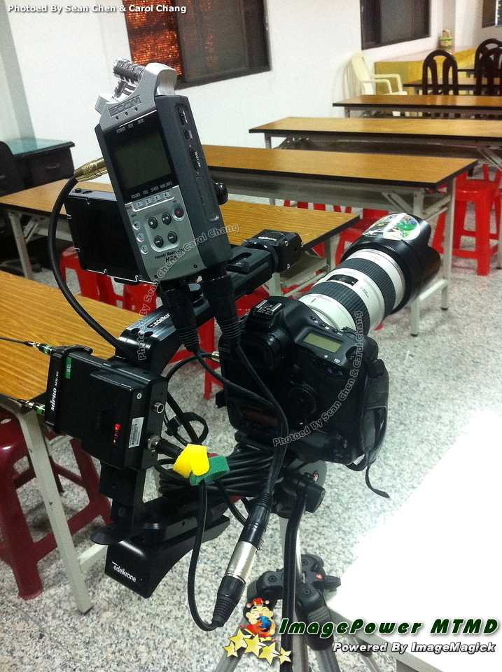 1D4 + H4n + SmallHD + .edelkrone + MIPRO + Manfrotto